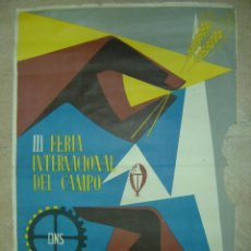 Carteles Feria: III FERIA INTERNACIONAL DEL CAMPO - D N S - MAYO-JUNIO 1956 - LITOGRAFIA. Lote 13308587