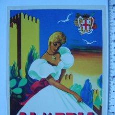 Carteles Feria: ALMERIA - FIESTAS EN HONOR DE LA SANTISIMA VIRGEN DEL MAR - AÑO 1955. Lote 194559976