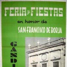 Carteles Feria: CARTEL GANDIA , VALENCIA , FERIAS Y FIESTAS 1959 ( SABAS ) ,. Lote 17745703