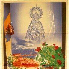 Carteles Feria: CARTEL ALMERIA FERIAS Y FIESTAS 1952 , LITOGRAFIA. Lote 170065370