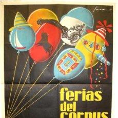 Carteles Feria: CARTEL CARTAGENA FIESTAS DEL CORPUS 1962 LITOGRAFIA. Lote 23399498