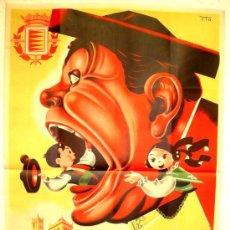 Carteles Feria: CARTEL VALLADOLID FERIAS Y FIESTAS 1953 ( ITO ) , LITOGRAFIA. Lote 138940621