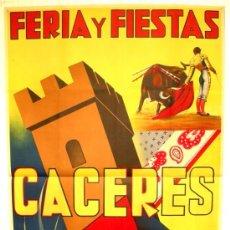 Carteles Feria: CARTEL CACERES , FERIAS Y FIESTAS 1951 ( TORI ) , LITOGRAFIA. Lote 15820119