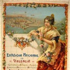 Carteles Feria: CARTEL VALENCIA ,EXPOSICION NACIONAL 1910 ( PASTOR ) , , LITOGRAFIA. Lote 23700879