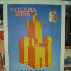 Carteles Feria: VILLENA (ALICANTE) - MOROS Y CRISTIANOS EN HONOR A NTRA EXCELSA PATRONA LA VIRGEN DE LAS VIRTUDES. Lote 26992825