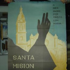 Carteles Feria: JATIVA (VALENCIA) - SANTA MISION - AÑO 1964. Lote 27060492