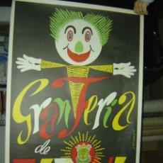 Carteles Feria: JATIVA (VALENCIA) - GRAN FERIA - AÑO 1969. Lote 115815550
