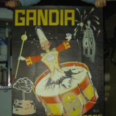 Carteles Feria: GANDIA (VALENCIA) - FERIA Y FIESTAS EN HONOR DE SAN FRANCISCO DE BORJA - AÑO 1956. Lote 27060494
