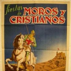 Carteles Feria: CARTEL ELDA , ALICANTE, FERIAS Y FIESTA DE MOROS Y CRISTIANOS, 1952 , ILUSTRADOR J. ORTIN. Lote 23506471