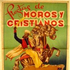 Carteles Feria: CARTEL ELDA , ALICANTE, FERIAS Y FIESTA DE MOROS Y CRISTIANOS, 1947 , ILUSTRADOR JUAN MIRA. Lote 27003213
