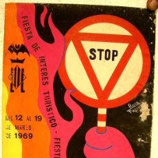 Carteles Feria: CARTEL VALENCIA FALLAS 1969 , PINTADO A MANO, PINTURA ORIGINAL. Lote 20124437