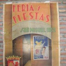 Carteles Feria: CARTEL FERIA Y FIESTAS CACERES1952. Lote 18044310