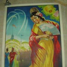 Carteles Feria: PRECIOSO CARTEL LITOGRAFICO - MANOLA - ILUSTRADOR: DONAT - (CARTEL GRANDE). Lote 175710198