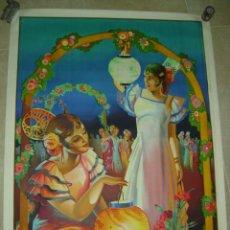 Carteles Feria: PRECIOSO CARTEL LITOGRAFICO - MANOLAS - ILUSTRADOR: BALLESTER MARCO - (CARTEL GRANDE). Lote 175598775