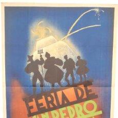 Carteles Feria: CARTEL ZAMORA , FERIA DE SAN PEDRO 1940 ,ILUSTRADO POR BEDATE, LITOGRAFIA RARO. Lote 22703984