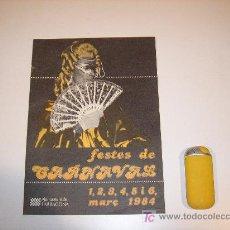 Carteles Feria: FIESTAS DE CARNAVAL DE TARRAGONA 1984. Lote 24179568