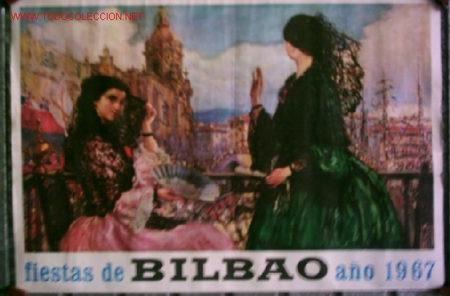 CARTEL FIESTAS DE BILBAO .. AÑO 1967 (Coleccionismo - Carteles Gran Formato - Carteles Ferias, Fiestas y Festejos)