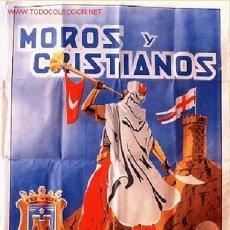 Carteles Feria: CARTEL FERIAS Y FIESTAS DE MOROS Y CRISTIANOS DE ELDA 1946 , ALICANTE. Lote 19726212