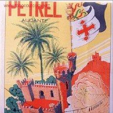 Carteles Feria: CARTEL FERIAS Y FIESTAS DE MOROS Y CRISTIANOS DE PETREL 1954, ALICANTE. Lote 15657896