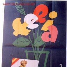 Carteles Feria: CARTEL FERIAS Y FIESTAS DE JATIVA 1961, VALENCIA. Lote 23399499