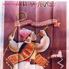 Carteles Feria: CARTEL FERIAS Y FIESTAS DE LA MAGDALENA , CASTELLON 1951 , ORIGINAL. Lote 21412120
