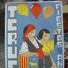 Carteles Feria: TERUEL - FIESTAS DEL ANGEL - JULIO DE 1970. Lote 27138677