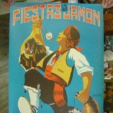 Carteles Feria: TERUEL - FIESTAS DEL JAMON - SEPTIEMBRE DE 1969 - CARTEL LITOGRAFICO. Lote 296957723