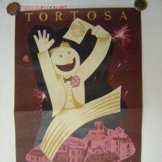 Carteles Feria: TORTOSA - GRAN FERIA EXTRAORDINARIA - FIESTAS DE NTRA. SRA. DE LA CINTA - AÑO 1953 (GRANDE). Lote 27368391