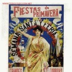 Carteles Feria: CARTEL FERIA Y SEMANA SANTA SEVILLA 1906 , ENTELADO , 24 X 45 CMS. ORIGINAL. Lote 26864568