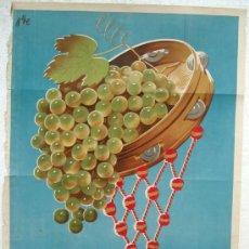 Carteles Feria: CARTEL JEREZ 1957 , FERIA Y FIESTA DE LA VENDIMIA, LITOGRAFIA, ILUSTRADO POR NIKE. Lote 254491720