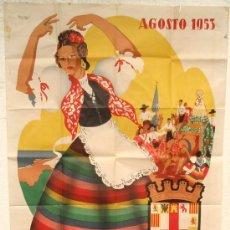 Carteles Feria: CARTEL ALMERIA 1953 , FERIAS Y FIESTAS, ILUSTRADO POR PUYA , LITOGRAFIA, MUY GRANDE. Lote 19562053