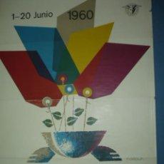Carteles Feria: CARTEL DE LA XXVIII FERIA DE BARCELONA AÑO 1960 TAMAÑO 1000X700. Lote 10958743