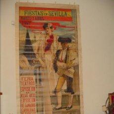 Carteles Feria: FIESTAS EN SEVILLA MARZO Y ABRIL 1907. Lote 21429569
