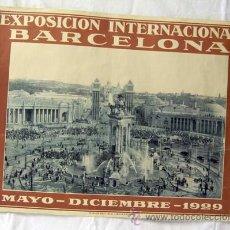 Carteles Feria: CARTEL EXPOSICIÓN INTERNACIONAL BARCELONA 1929 RIEUSSET SA BARCELONA PLAZA DE ESPAÑA. Lote 11198126