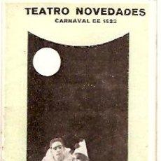 Carteles Feria: TEATRO NOVEDADES CARNAVAL 1923 GRAN BAILE MULTICOLOR. Lote 11838336