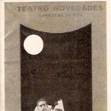 Carteles Feria: TEATRO NOVEDADES CARNAVAL 1923 GRAN CERTAMEN INFANTIL DE TRAJES . Lote 11838364