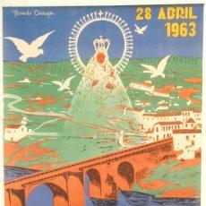 Carteles Feria: CARTEL MONTORO CORDOBA ,FERIAS Y FIESTAS 1963, COFRADIA FUENSANTA, RICARDO ANAYA , LITOGRAFICO, C1. Lote 21960190