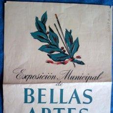 Carteles Feria: CARTEL EXPOSICIÓN MUNICIPAL BELLAS ARTES OTOÑO 1951-AYUNTAMIENTO BARCELONA.MED.31X46.. Lote 30771387