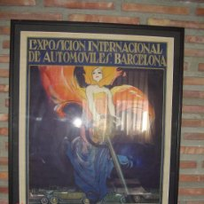Carteles Feria: SEGRELLES.EXPOSICION INTERNACIONAL DE AUTOMOVILES.BARCELONA.1922. Lote 26935913