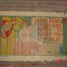 Carteles Feria: CARTEL EXPOSICION REGIONAL 1909.VALENCIA.C.-072. Lote 13728743