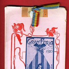 Carteles Feria: PROGRAMA DE FERIA DE VALENCIA, JULIO 1900 , ORIGINAL. Lote 22662795