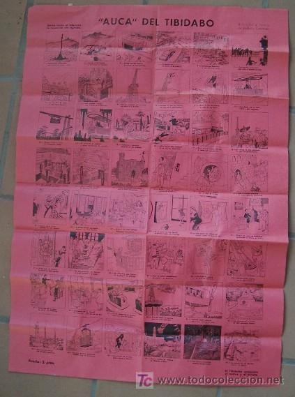 AUCA DEL TIBIDABO- DIBUJOS Y TEXTO DE VALENTIN CASTANYS (Coleccionismo - Carteles Gran Formato - Carteles Ferias, Fiestas y Festejos)