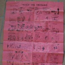 Carteles Feria: AUCA DEL TIBIDABO- DIBUJOS Y TEXTO DE VALENTIN CASTANYS. Lote 17069543