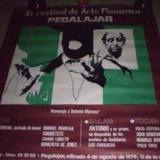 Carteles Feria: CARTEL DEL XI FESTIVAL DE ARTE FLAMENCO DE PEGALAJAR. 1979. HOMENAJE ANTONIO MAIRENA.. Lote 27270563