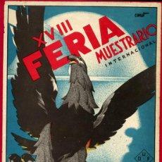 Carteles Feria: CARTEL VALENCIA, FERIA MUESTRARIO INTERNACIONAL 1935 , ILUSTRADO POR CANET. Lote 21960183