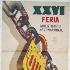 Carteles Feria: CARTEL FERIA MUESTRARIO INTERNACIONAL VALENCIA, 1948 , ILUSTRADO POR DOMINGO. Lote 21960188