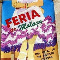 Carteles Feria: MALAGA-FERIA DE MALAGA, DEL 10 AL 19 DE AGOSTO DEL 1996, ESTE CARTEL TIENE LA FIRMA ORIGINAL DE SU A. Lote 15257600