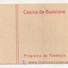 Cartazes Feira: CASINO DE BADALONA. PROGRAMA DE FESTEJOS. CARNAVAL. CINEMA NOU. . Lote 15454620