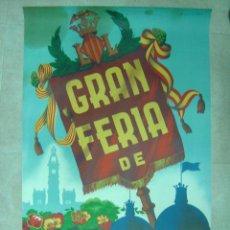 Carteles Feria: GRAN FERIA DE VALENCIA - AÑO 1954 - ILUSTRADO POR S. CARRILERO ABAD. Lote 26948589