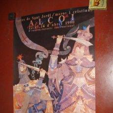 Carteles Feria: CARTEL MOROS Y CRISTIANOS EN ALCOI DEL AÑO 1990. 70X50 CM.. Lote 15938337